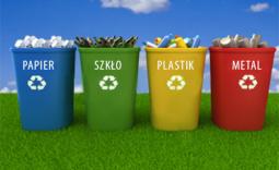 kosze ze śmieciami segregowanymi - Kliknięcie w obrazek spowoduje wyświetlenie jego powiększenia