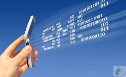 telefon i napis SMS - Kliknięcie w obrazek spowoduje wyświetlenie jego powiększenia