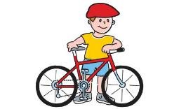 Chłopczyk na rowerze - Kliknięcie w obrazek spowoduje wyświetlenie jego powiększenia