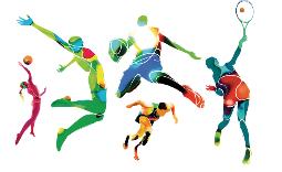grafika pokazująca sportowców - Kliknięcie w obrazek spowoduje wyświetlenie jego powiększenia