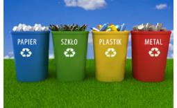 kosze z segregowanymi śmieciami - Kliknięcie w obrazek spowoduje wyświetlenie jego powiększenia
