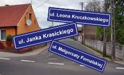 zmian nazw ulic - Kliknięcie w obrazek spowoduje wyświetlenie jego powiększenia
